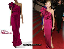 Stella McCartney One Shoulder Purple Satin Gown Dress New BNWT  UK 10 US 8 IT 42