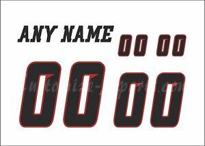 Ottawa Redblacks Football Number kit for 2015-2018 White Jersey