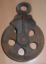 industrie design metall rad umlenkrolle seil alt guss eisen antik top deko 15 cm
