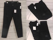 Vervet by Flying Monkey Distressed Black Stretch Denim Cuffed Jeans Size 27 (F4)
