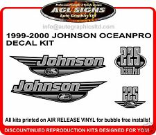 JOHNSON OCEAN PRO 225 DECAL KIT 1999 2000 REPRODUCTION  200 250 HP