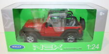 Welly NEX 1/24 Scale 22489W - 2007 Jeep Wrangler - Red - Open Top