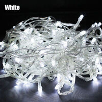 10M 100 LED Christmas Tree Fairy String Party Lights Lamp Xmas Waterproof White