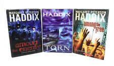 Margaret Peterson Haddix Torn Among The Enemy Among The Free HC 3 set
