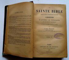 LA SAINTE BIBLE FILLION TOME 2  1889 vulgate Holy Bible french