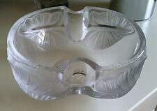LALIQUE Crystal (France) - ARUMS Coupe - Moulded Arum Leaf Bowl - BNIB