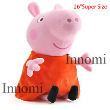 "26"" Peppa Pig Plush Doll Stuffed Animal Toy Super Size"
