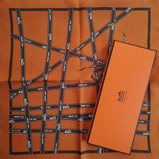 "NEW+BOX HERMES Bolduc Ribbon SILK SMALL 42cm 16"" Pocket SCARF by J.L. Dumas"