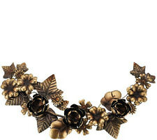 "Ed On Air 19.9""L X 9.4""W Metal Floral Christmas Garland- Brass"
