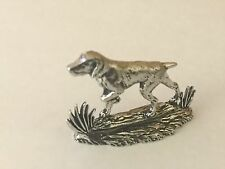 Pointer Dog Pewter Figurine Paperweight Ornament 3D CODEE3