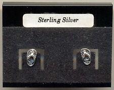 Flip Flop Sterling Silver 925 Studs Earrings Carded