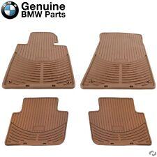 For BMW E46 323Ci 330Ci M3 Set of Front & Rear Rubber Floor Mats Beige Genuine