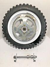"1999 Lem lx 50 Rear wheel 10"" rim axle chain adjusters sprocket Bernardi 50cc"
