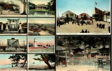 JAPAN Lot x 10 Hand-Tinted Postcards c1910 - Kobe People Osaka Nikko Yokohama