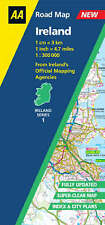 , AA Road Map Ireland (Ireland S.), Paperback, Very Good Book