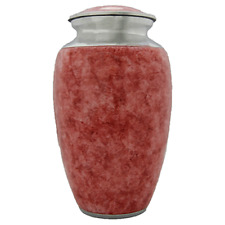 Pink Textured Urn for Human Ashes - Adult, Large Cremation Memorial