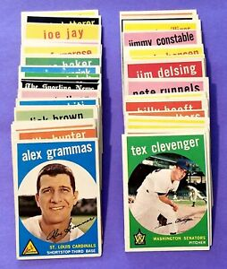 Lot of 66 Total 1959 Topps Baseball Cards Rookie RC HOF Starter Set EX-NM