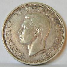 GB UK, George VI: WW2 era 1939 silver Halfcrown 1/2 Crown, toned XF
