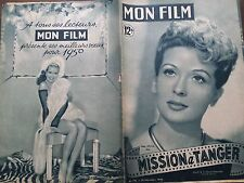 "MON FILM 1949 N 175 "" MISSION A TANGER"" avec GABY SYLVIA et RAYMOND ROULEAU"