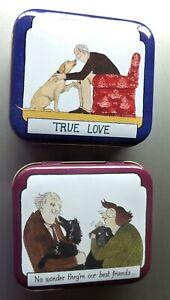 2 dog love trinket box hinged tins Best Friends Elite gift boxes UK