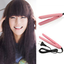 Pink Ceramic Hair Crimper Iron Curler Curling Styling Hairdressing Tool Waver