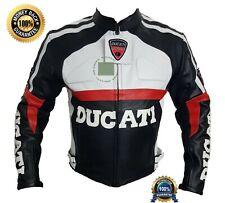 Cuero del zurriago Original Certificado las cotas de malla chaqueta de moto Ducati Negro