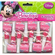 DISNEY MINNIE MOUSE BLOWOUTS PACK OF 8 BIRTHDAY PARTY BLOWERS
