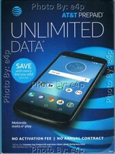MOTOROLA MOTO E5 PLAY 4G LTE ANDROID AT&T PREPAID SMARTPHONE BRAND NEW SEALED!!!
