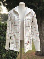 Burton DRYRIDE Zip Up Hoodie Jacket sweater White Women's M Medium