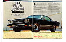 1968 PLYMOUTH HEMI GTX 426/425 HP ~ GREAT 5-PAGE ARTICLE / AD