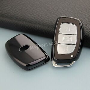 For Hyundai Elantra Sonata Tucson Ioniq Black Car Smart Remote Key Case Cover