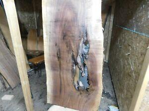 Black Walnut live edge slab