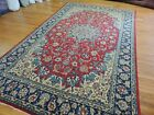7x11  8x10 Kashaan Oriental Area Rug wool hand-knotted Red Blue Navy olive green
