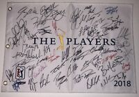 2018 THE PLAYERS CHAMPIONSHIP SIGNED AUTOGRAPHED FIELD FLAG SIMPSON FOWLER 50+!!