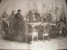 The Council of War at Paris 1856 print ref AT
