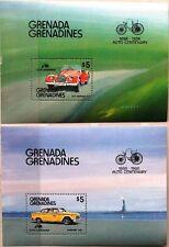 GRENADA GRENADINES 1986 Block 120-21 Automobile Morgan Checker Taxi Autos Cars