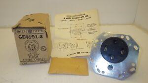 GENERAL ELECTRIC GE4191-3 FLUSH DRYER OUTLET 4 WIRE 30A-250V, NIB