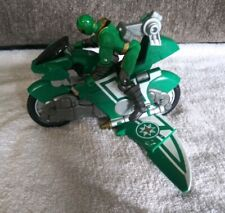 "POWER RANGERS GREEN SAMURAI NINJA GLIDER CYCLE 5"" FIGURE-BANDAI 2002"