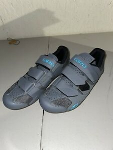 Used Once!!! Women's cycling shoes size 7 38cm Giro Techne W Grey