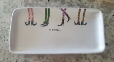 """Rae Dunn Halloween """"Eat Up Witches"""" Witch Legs Large Platter Farmhouse"""