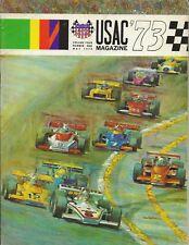 OLD VINTAGE 1973 USAC RACING MAGAZINE VOL4 NUMBER 1 INDY SPRINTS MIDGETS