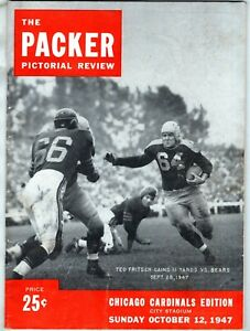 Oct 12 1947 Program GREEN BAY PACKERS CHICAGO CARDINALS Packer Pictorial Review