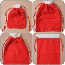 Fieltro Navidad Saco de papa noel con rojo cable cordón tamaños 40x29cm 30x21cm