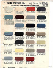 1966 FORD MUSTANG FAIRLANE GALAXIE GT MERCURY MONTEREY LINCOLN PAINT CHIPS MS 6