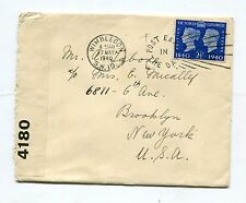 Air Mail Cover 1940 England to Brooklyn New York U.S.A. Mcalley