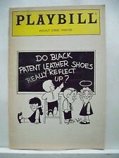DO BLACK PATENT LEATHER SHOES REALLY REFLECT UP Playbill PHILADELPHIA PA 1984