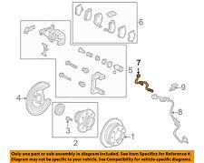 Acura HONDA OEM 04-08 TSX Rear Brake-Hydraulic Flex Hose 01468SEAE00