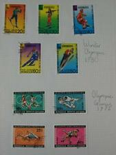 'Winter Olympic 1980' & 'Winter Olympic1972' used mounted Stamp sets, Mongolia