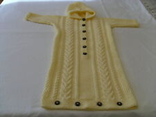 Baby's hand-knitted bunting bag/cocoon/sleeping bag to fit 6-9 months
