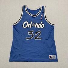 VINTAGE Champion Shaq Orlando Magic Jersey Mens 48 Blue NBA HipHop 90s